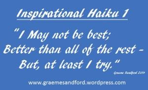 Inspirational Haiku 1