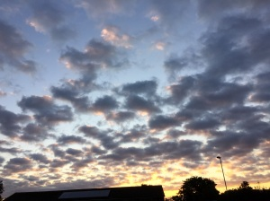 Totton, 5:45am this morning, facing East (I hope)