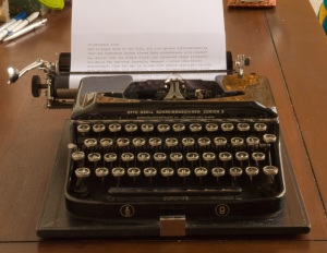 This is a typewriter